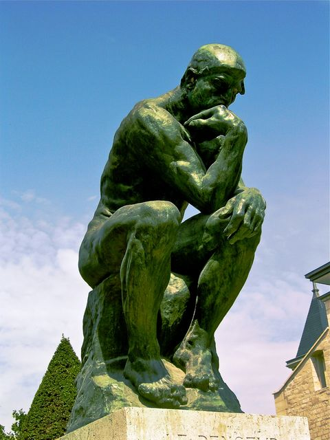 Auguste Rodin, Bronze Cast, The Thinker, 1880