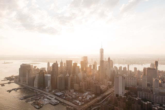 Luna De Jong, Canon 5D on archival paper, Manhattan Sunrise, 2015